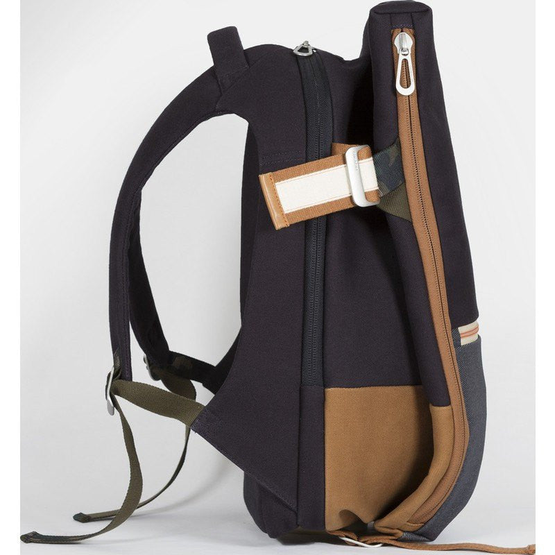Cote et Ciel Isar Multi Touch Cargo Canvas Laptop Backpack | Indigo Blue 28380