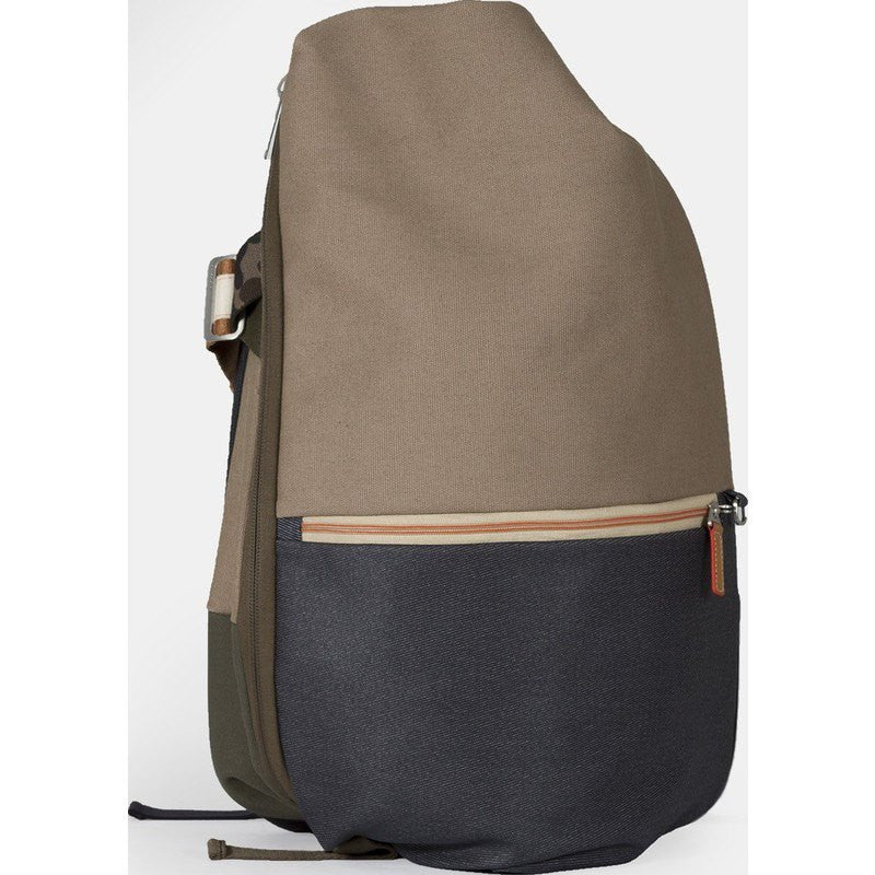 Cote et Ciel Isar Multi Touch Cargo Canvas Laptop Backpack | Taupe Grey 28381