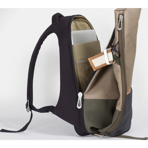 Cote et Ciel Isar Multi Touch Cargo Canvas Backpack | Taupe Grey