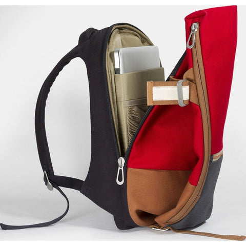 Cote et Ciel Isar Multi Touch Cargo Canvas Laptop Backpack | Ruby Red
