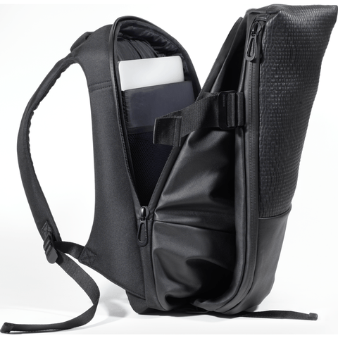 Cote et Ciel Isar Medium Veneer Neoprene Backpack | Onyx Black 28442
