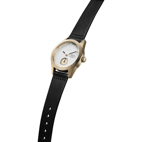 Triwa Ivory Aska Watch | Black Classic Super Slim AKST101-SS010213