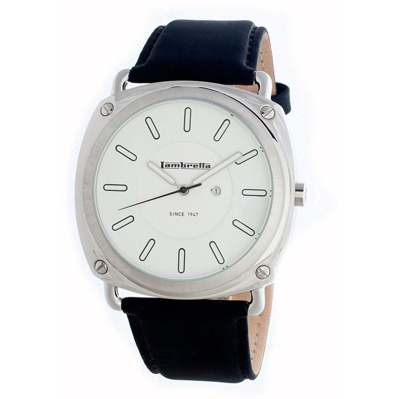 Lambretta Brunori Watch | Leather White 2092WHI