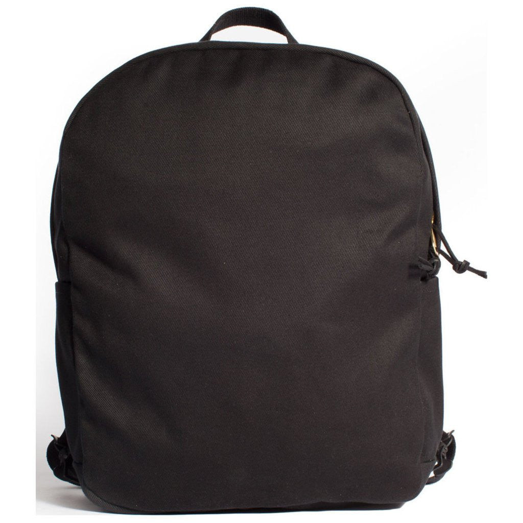 3841ab1b7576 Joshu+Vela Zip Canvas Backpack Black JV0160-BLACK - Sportique