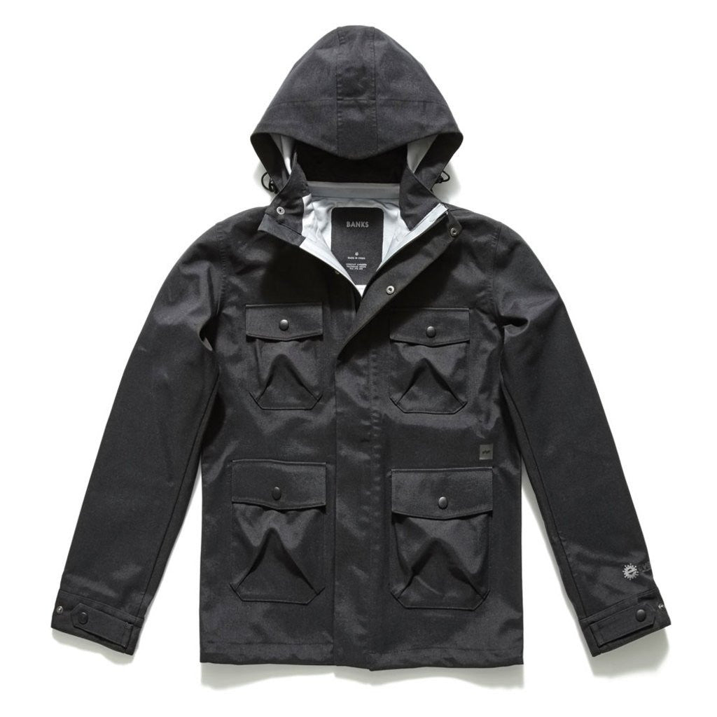 Banks Journeys Transit Jacket | Black JT0005