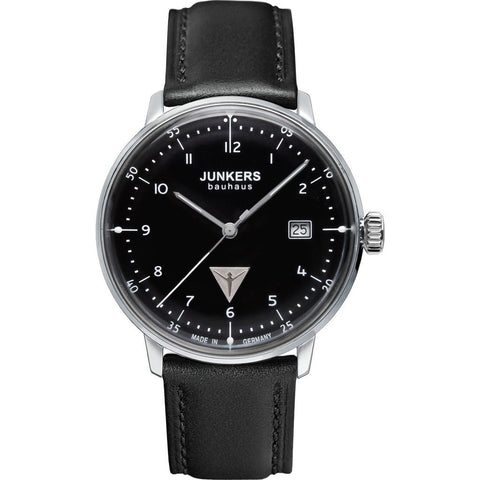Junkers Bauhaus Numbered Watch | Black/Leather 6046-2