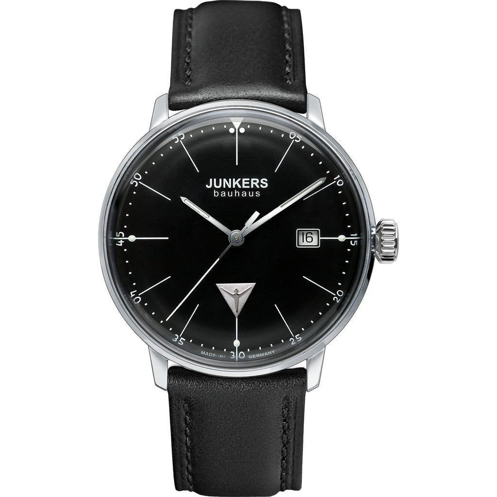 Junkers Bauhaus Watch | Black/Leather 6070-2