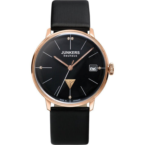 Junkers Women's Bauhaus Watch | Black/Leather 6075-2