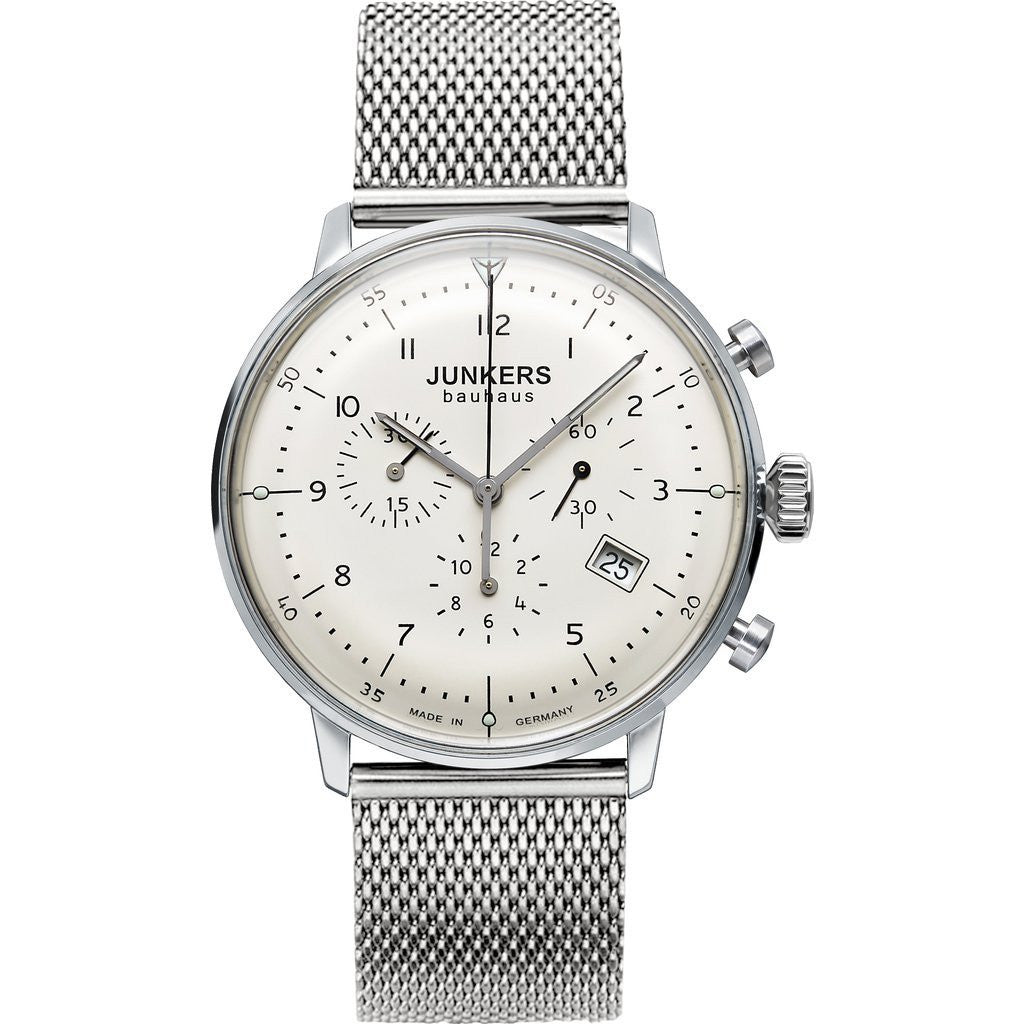 Junkers Bauhaus Chronograph Watch | White/Metal 6086M-5