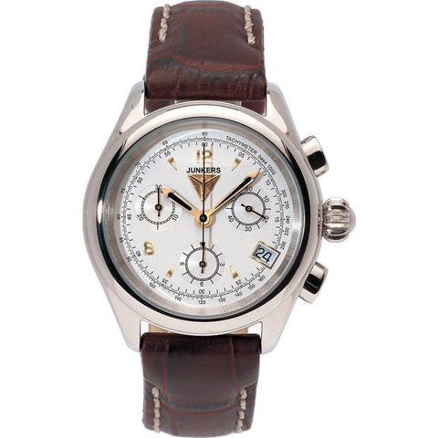 Junkers Women's Himalaya Pearls Chronograph Watch | White/Leather 6289-1
