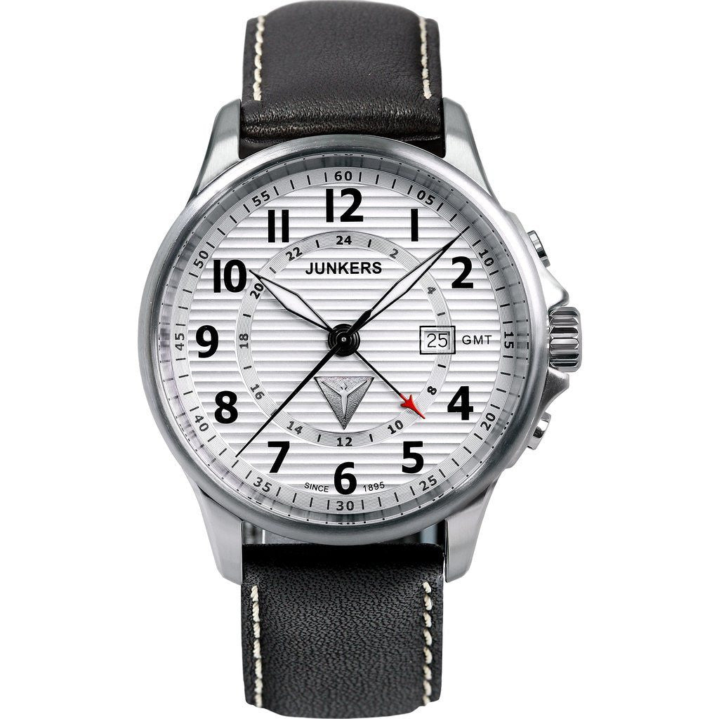 Junkers Tante JU GMT Watch | Silver/Leather 6848-1