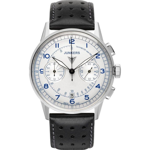 Junkers G38 Chronograph Watch | White/Leather 6970-3