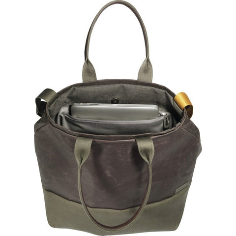 Cote&Ciel Kalix Large Feldspath Coated Canvas Tote Bag | Puce/Olive Green 28324