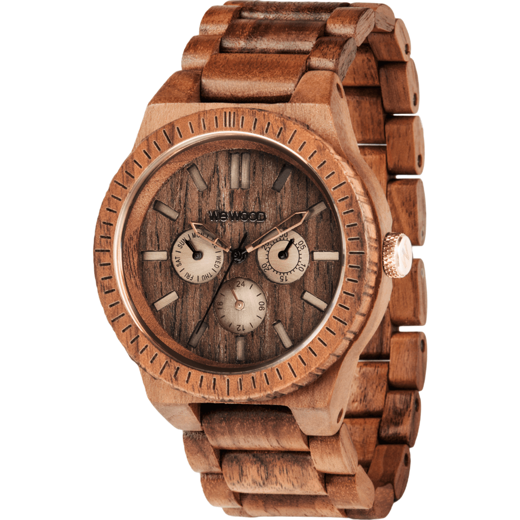 WeWood Kappa Nut Brushed Wood Watch | Walnut