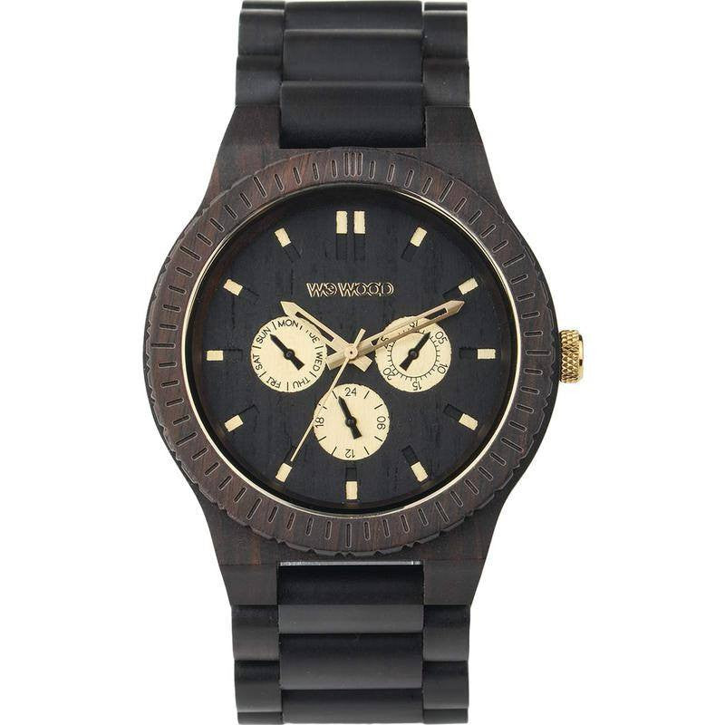 WeWood Kappa RO Blackwood Watch | Black/Gold