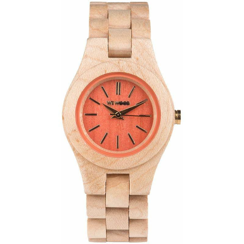 WeWood Laetus Maple Wood Watch | Peach