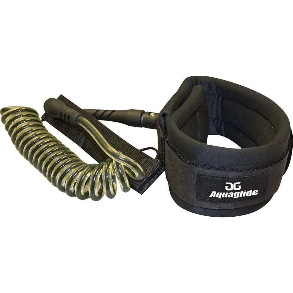 Aquaglide Paddle Board Coil Leash | Black