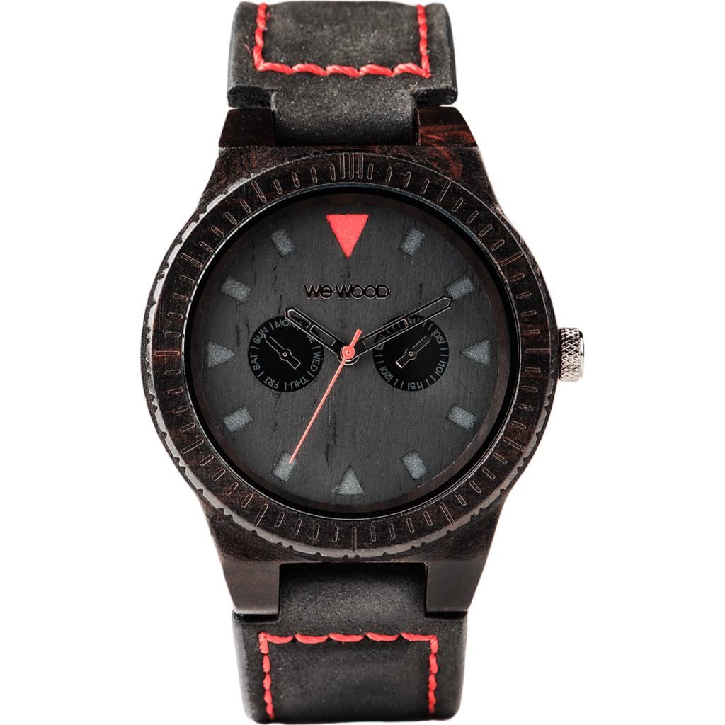 WeWood Leo Blackwood Watch | Black Terra/Leather