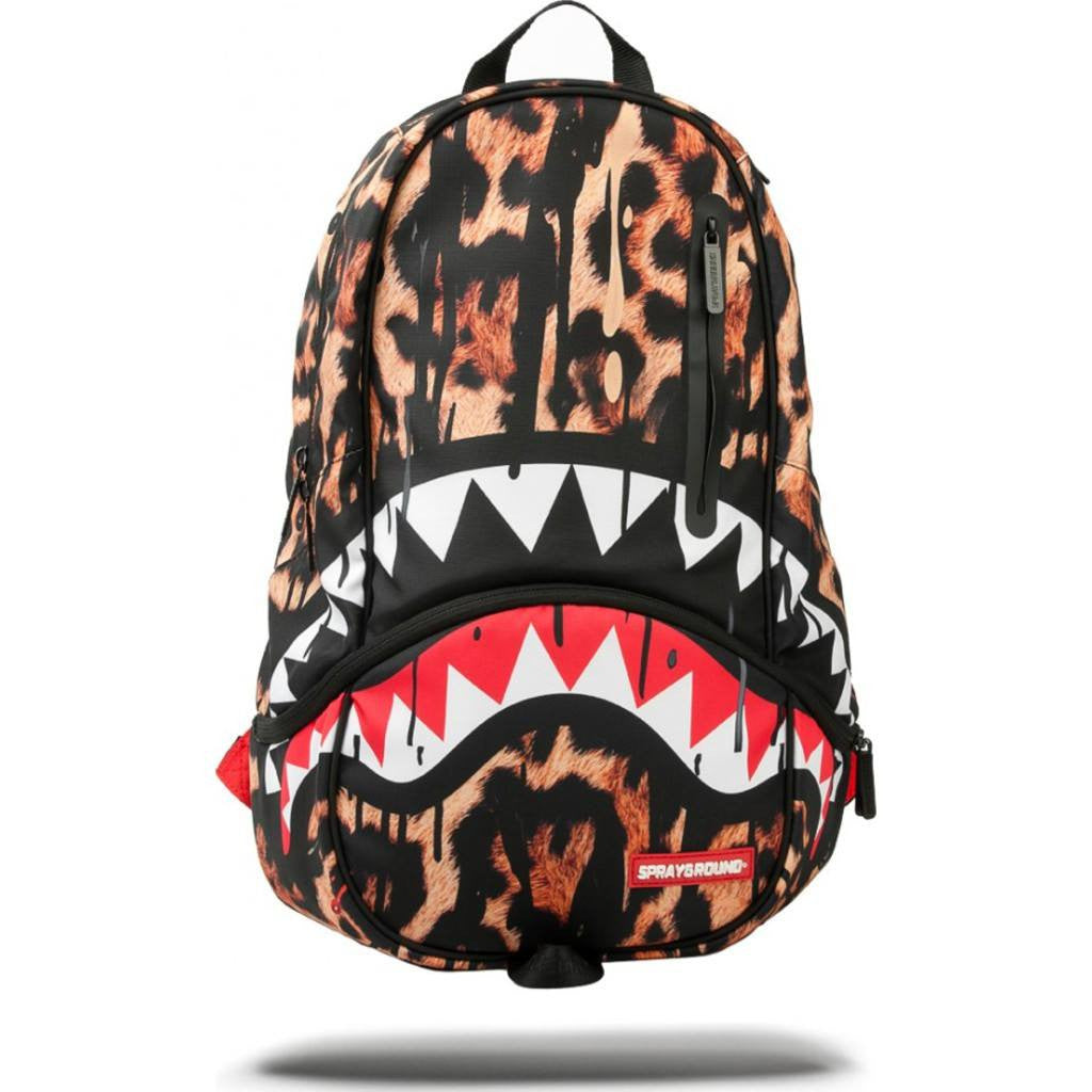 Sprayground Leopard Drips Shark DLXX Backpack | Leopard