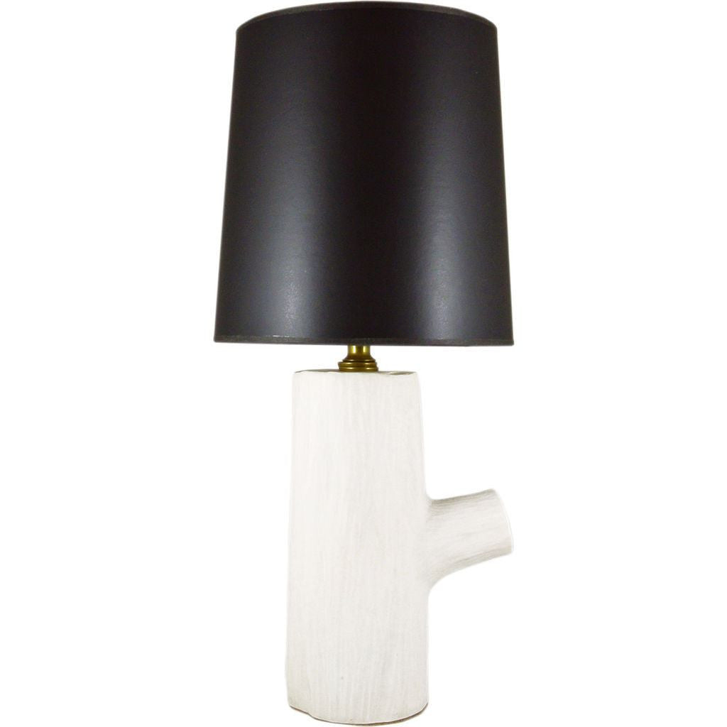 Michiko Shimada Log Lamp with Shade | White/Black