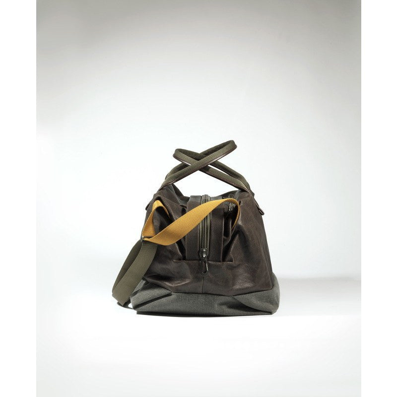 Cote et Ciel Loire Feldspath Coated Canvas Duffel Bag | Puce