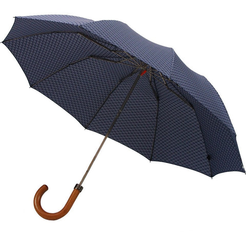London Undercover Wave Pattern Telescopic 10 Rib Umbrella | Maple Handle LU MPL-610