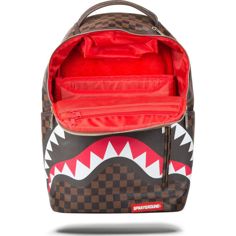 Sprayground Sharks In Paris Backpack | Brown/Black