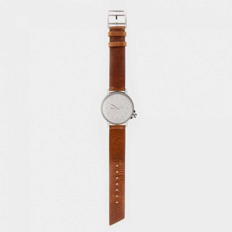 Miansai M12 Stainless Steel Swiss Watch | Vintage Cognac Leather 106-0002-002