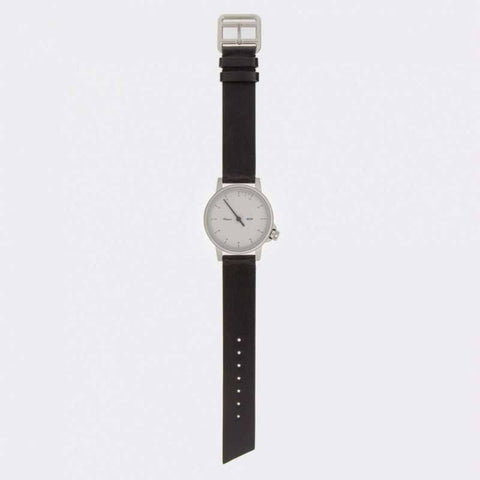 Miansai M24 White Watch | Black Leather