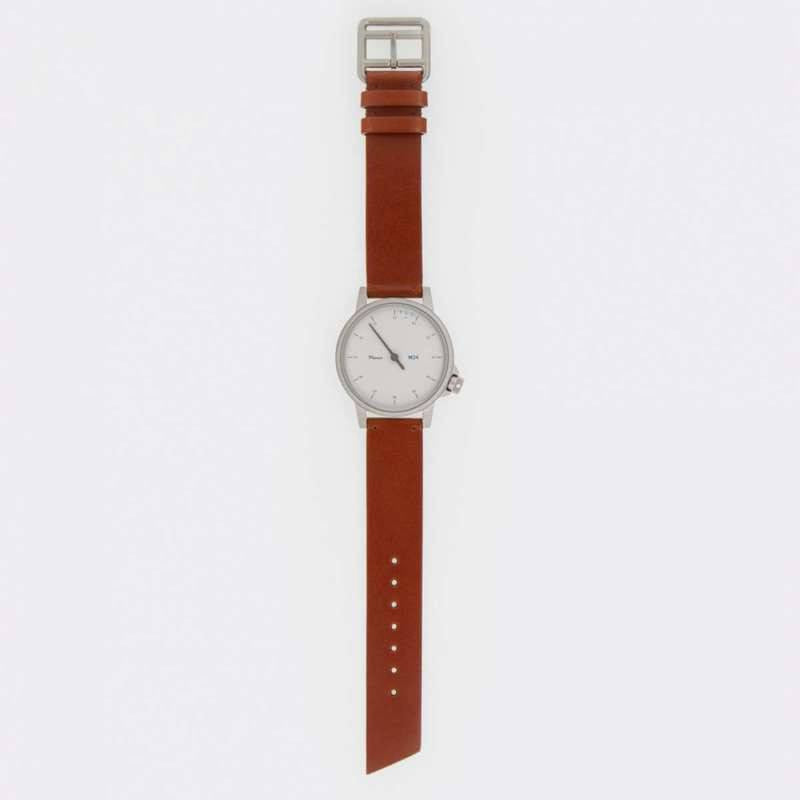 Miansai M24 White Watch | Brown Leather 107-0004-002
