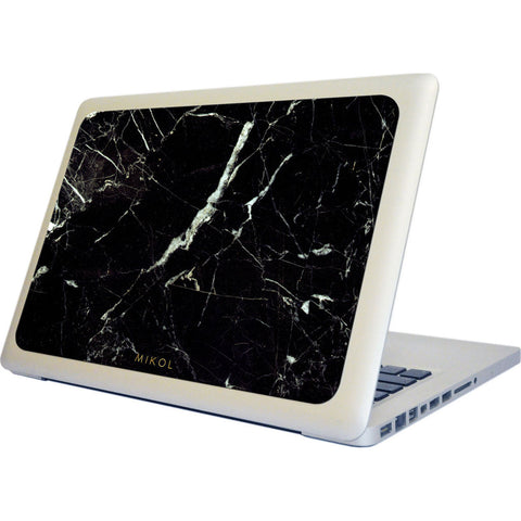 MIKOL Nero Marquina Marble MacBook Case | Black
