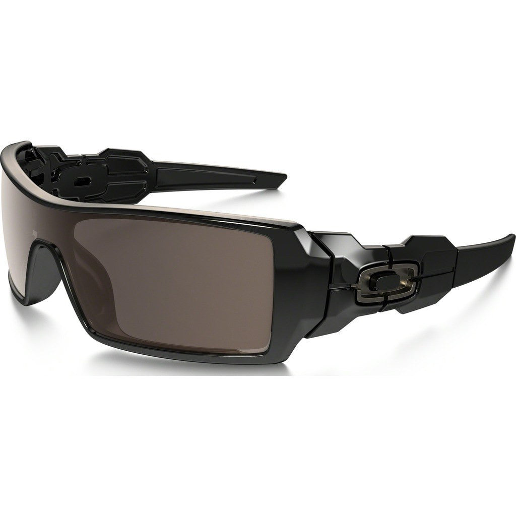 Oakley Lifestyle Oil Rig Polished Black Sunglasses | Warm Grey 03-460