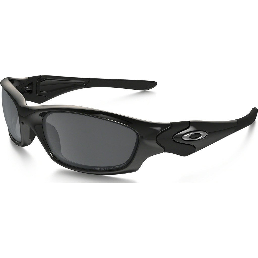 Oakley Active Straight Jacket Polished Black Sunglasses | Black Iridium 04-325