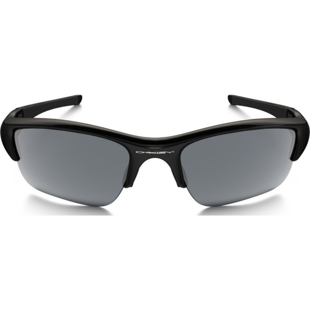 Oakley Sport Flak Jacket XLJ Jet Black Sunglasses | Black Iridium Polarized 12-904