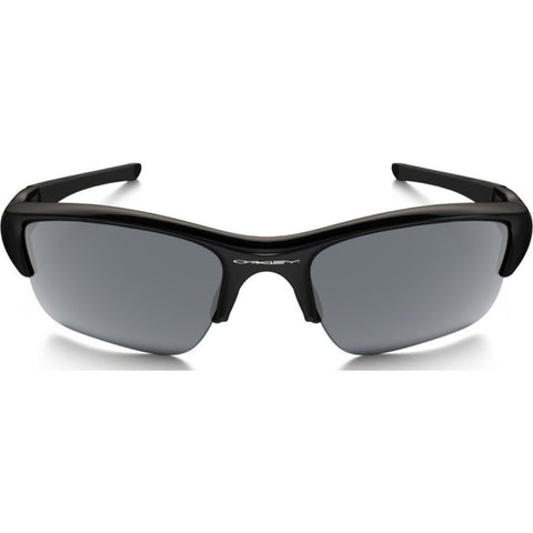 Oakley Sport Flak Jacket XLJ Jet Black Sunglasses | Black Iridium Polarized 12-903