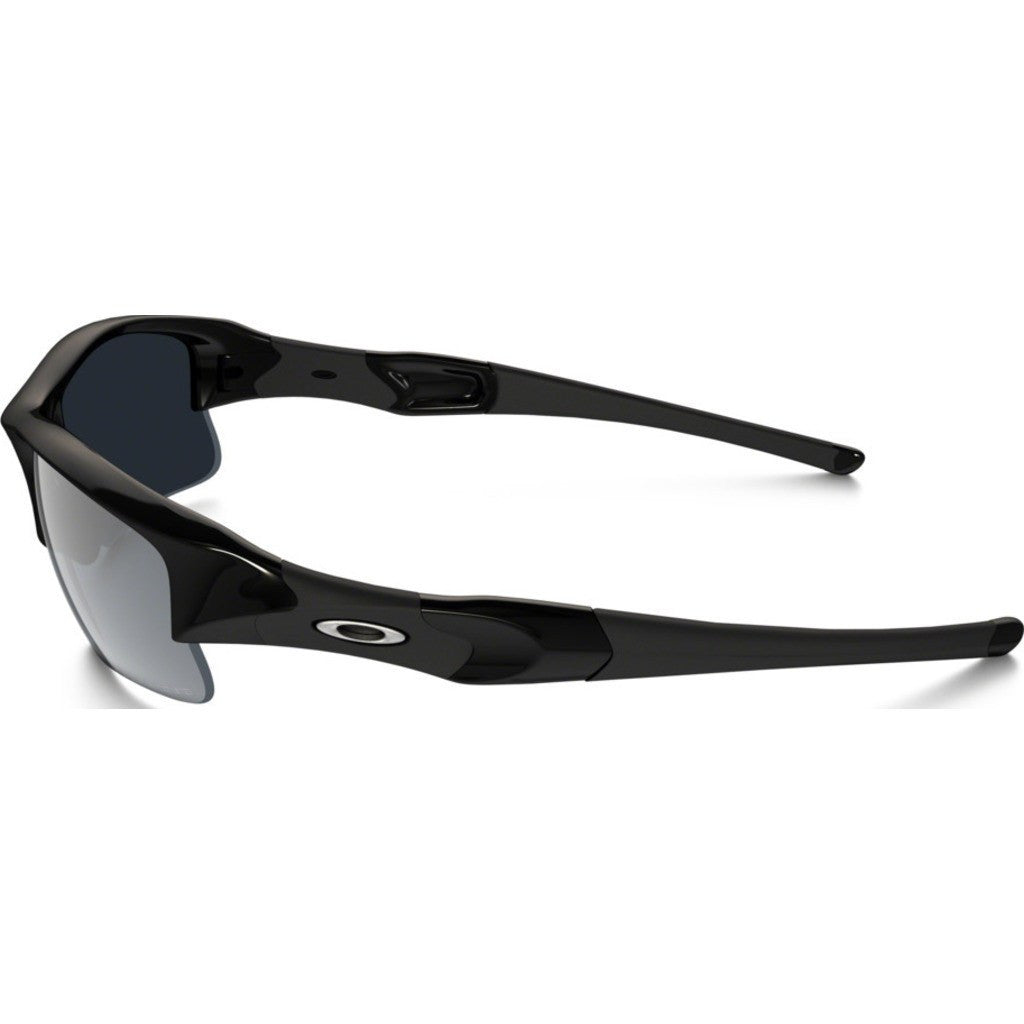 Oakley Sport Flak Jacket XLJ Jet Black Sunglasses | Black Iridium Polarized 12-906