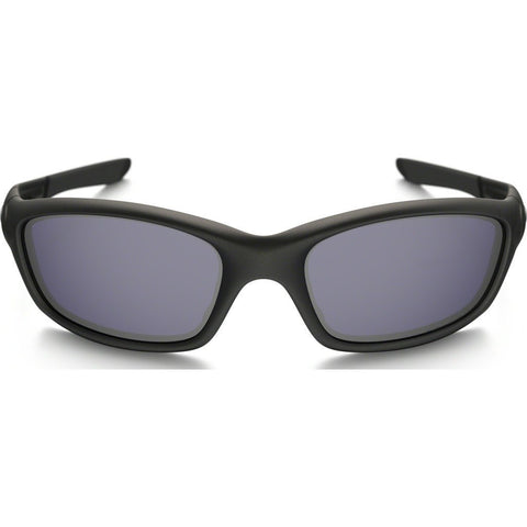 Oakley Active Straight Jacket Matte Black Sunglasses | Grey Polarized 24-124