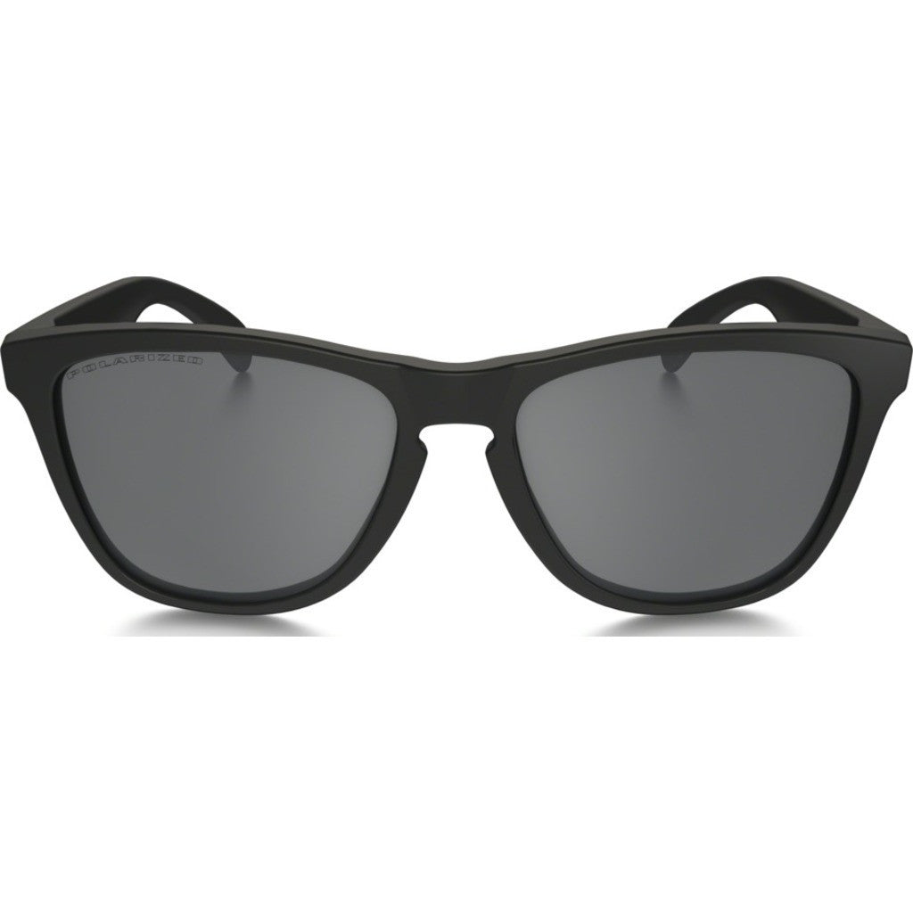 Oakley Lifestyle Frogskins Matte Black Sunglasses | Black Iridium Polarized 24-297