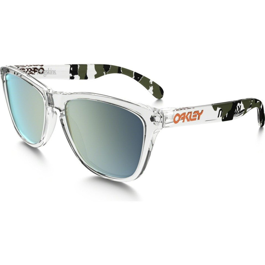 Oakley Lifestyle Frogskins Clear Camo Sunglasses | Emerald Iridium 24-436