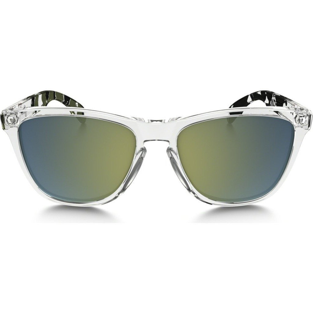 Oakley Lifestyle Frogskins Clear Camo Sunglasses | Emerald Iridium 24-437