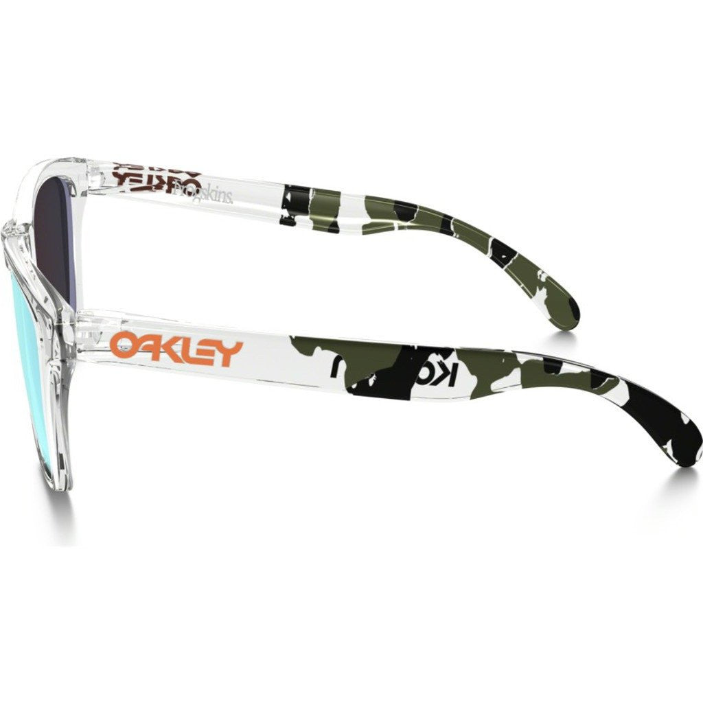 Oakley Lifestyle Frogskins Clear Camo Sunglasses | Emerald Iridium 24-439