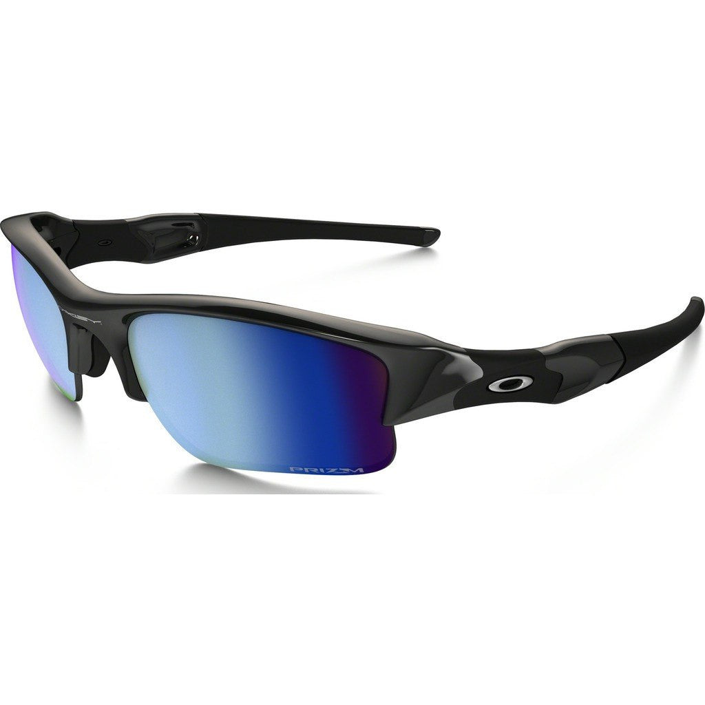 Oakley Sport Flak Jacket XLJ Polished Black Sunglasses | Prizm Deep Water Polarized OO9009-11