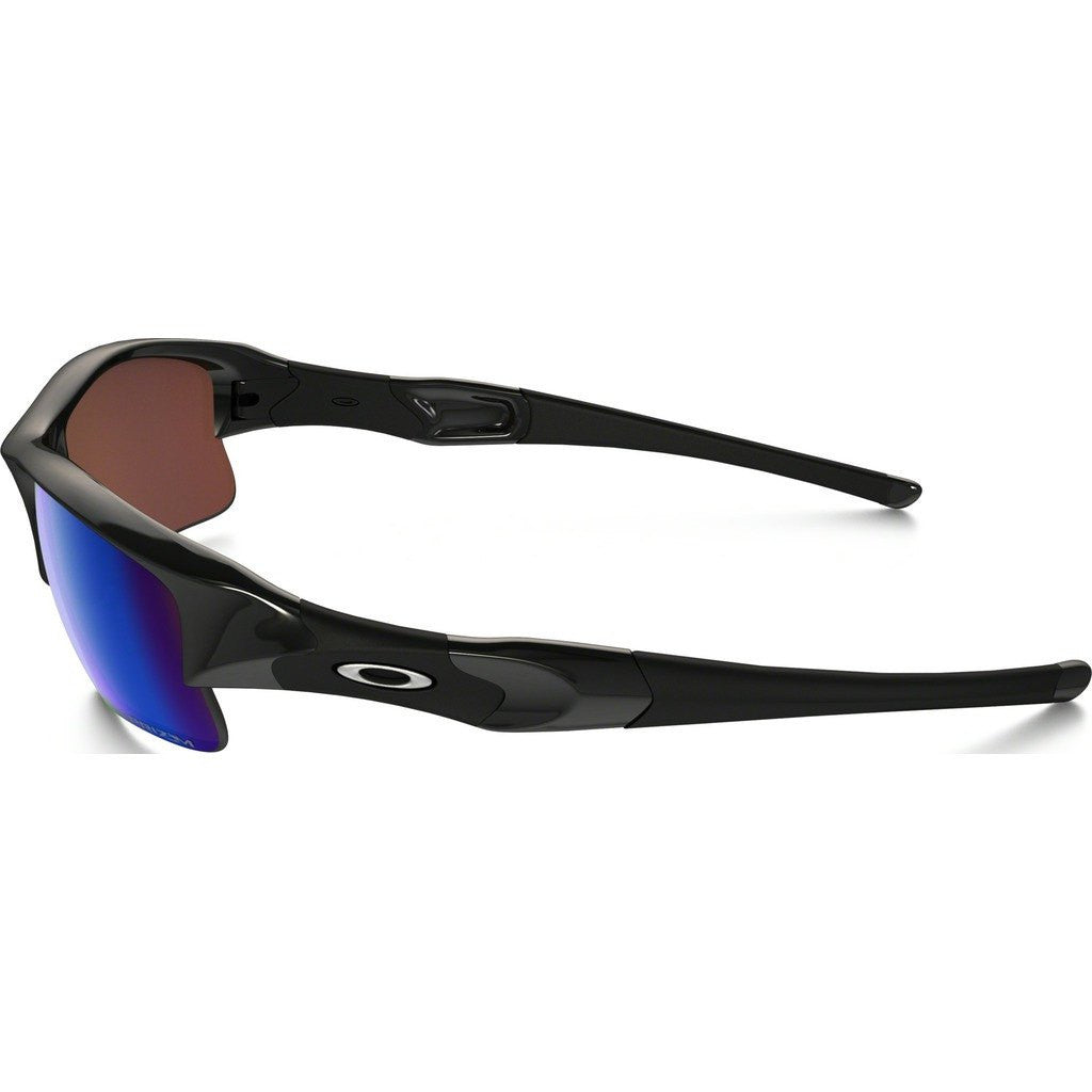 Oakley Sport Flak Jacket XLJ Polished Black Sunglasses | Prizm Deep Water Polarized