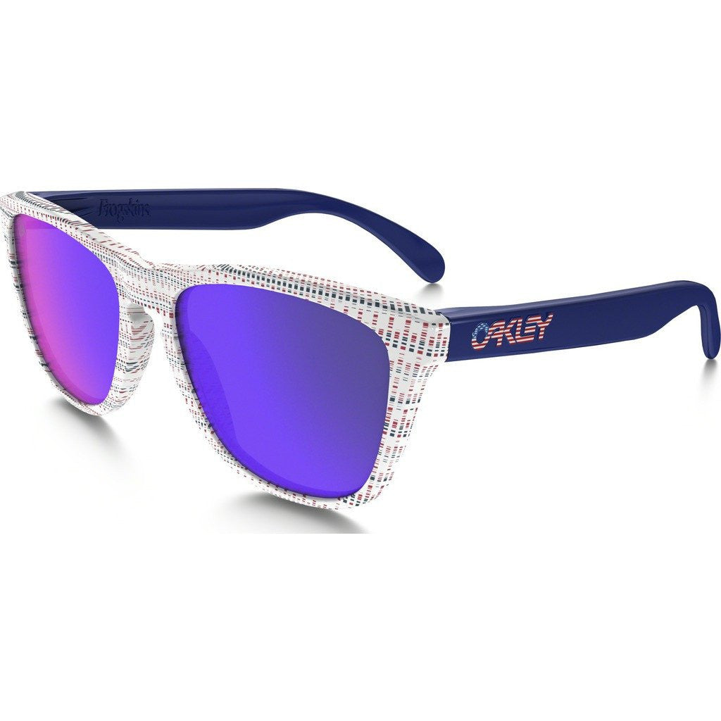 Oakley Lifestyle Team USA Frogskins White Sunglasses | Positive Red Iridium OO9013-85