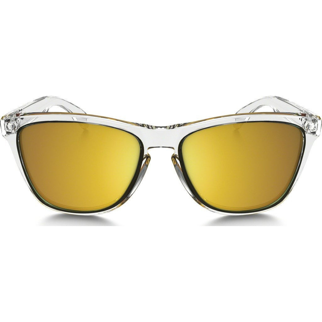 Oakley Lifestyle Frogskins Crystal Clear Sunglasses | 24K Gold Iridium OO9013-A4