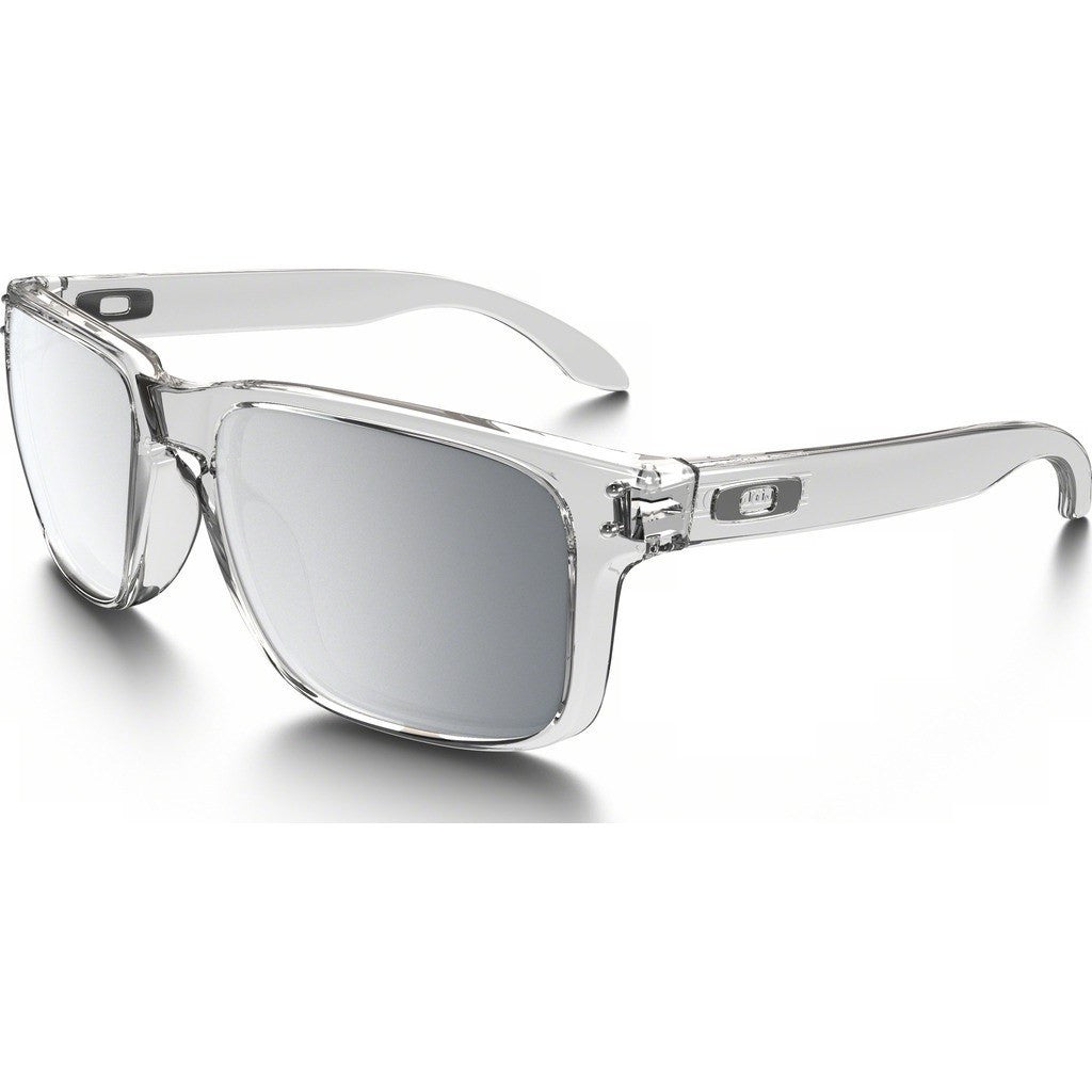 Oakley Lifestyle Holbrook Polished Clear Sunglasses | Chrome Iridium OO9102-06