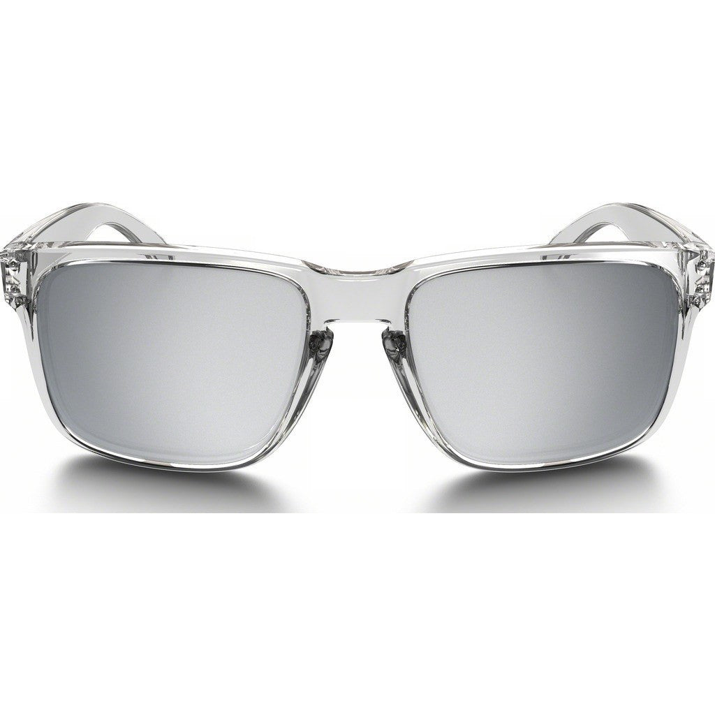 Oakley Lifestyle Holbrook Polished Clear Sunglasses | Chrome Iridium OO9102-07