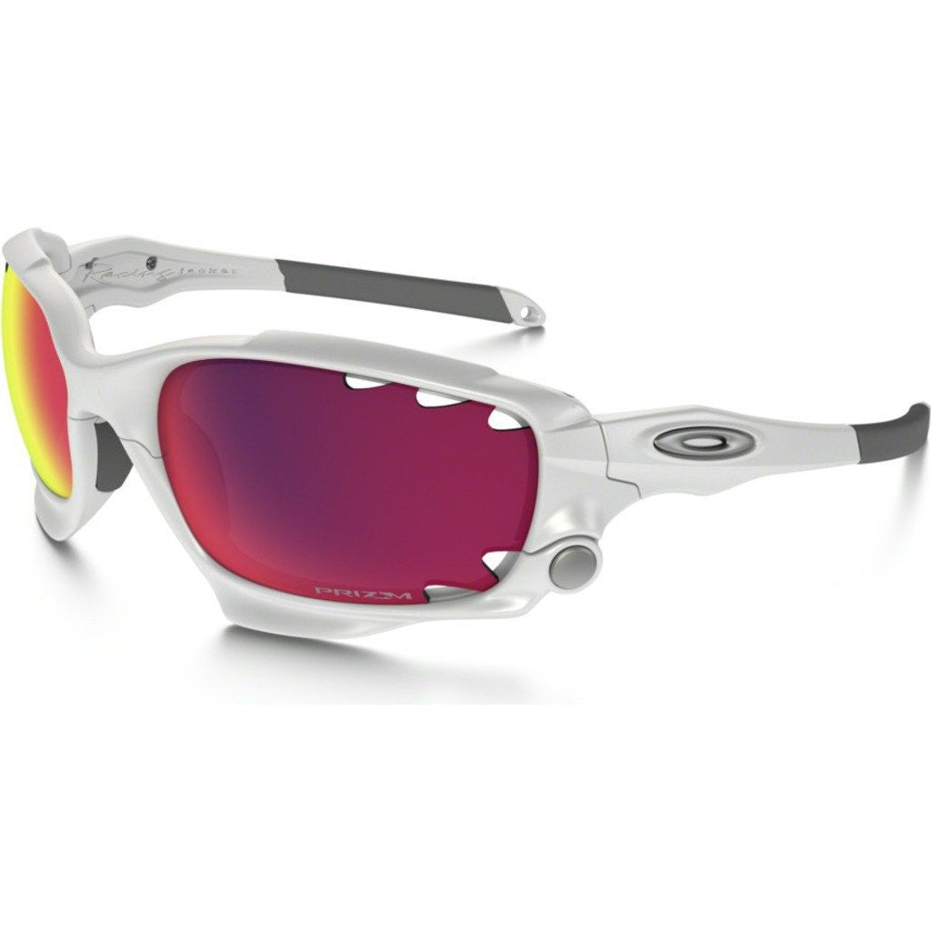 oakley sunglasses prizm  Oakley Racing Jacket White Sunglasses Prizm OO9171-32 - Sportique