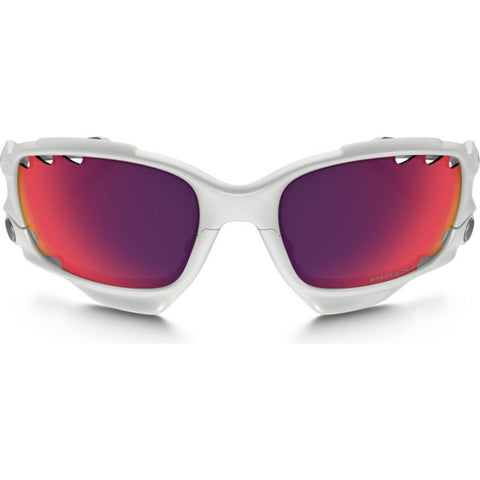 Oakley Sport Racing Jacket Polished White Sunglasses | Prizm Road OO9171-32 62 mm