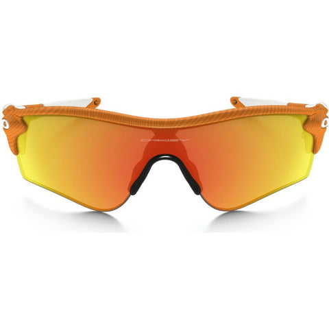 Oakley Sport Radarlock Path Fingerprint Atomic Orange Sunglasses | Fire & Black Iridium OO9181-45